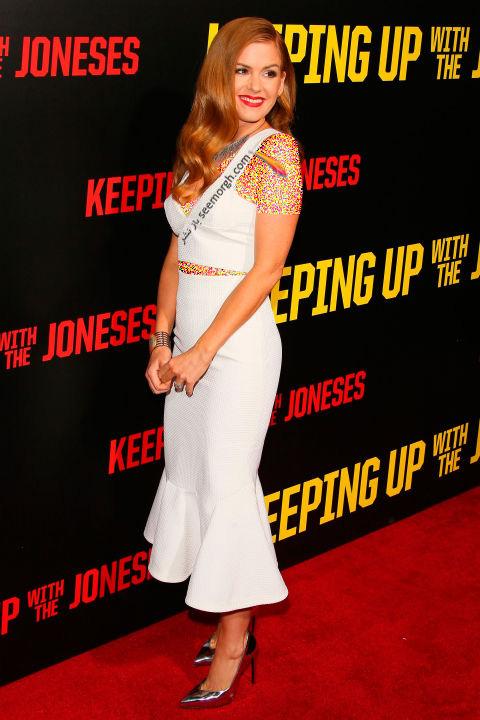 مدل لباس آیلا فیشر Isla Fisher در هفته مد نیویورک