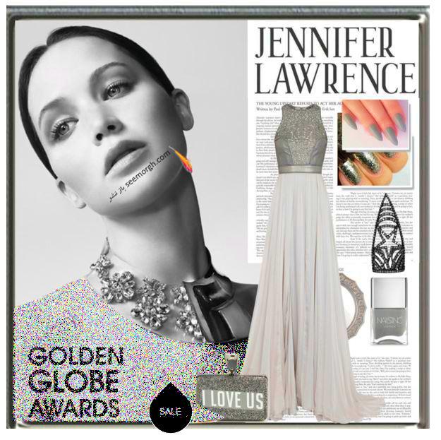 ست کردن لباس شب به سبک جنیفر لارنس Jennifer Lawrence -  مدل شماره 7