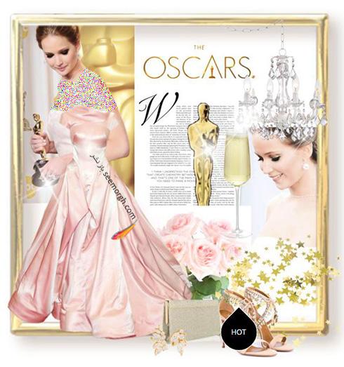 ست کردن لباس شب به سبک جنیفر لارنس Jennifer Lawrence -  مدل شماره 1