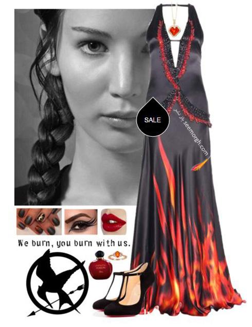 ست کردن لباس شب به سبک جنیفر لارنس Jennifer Lawrence -  مدل شماره 3