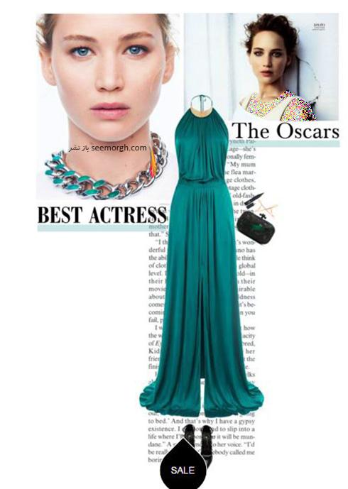 ست کردن لباس شب به سبک جنیفر لارنس Jennifer Lawrence -  مدل شماره 4