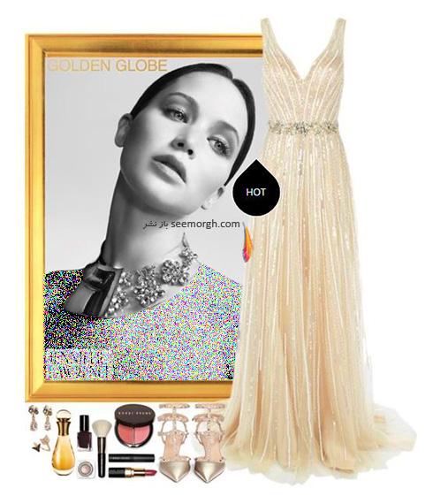 ست کردن لباس شب به سبک جنیفر لارنس Jennifer Lawrence -  مدل شماره 5