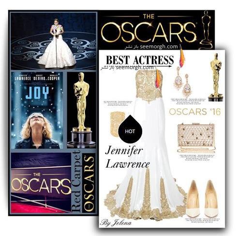 ست کردن لباس شب به سبک جنیفر لارنس Jennifer Lawrence -  مدل شماره 8