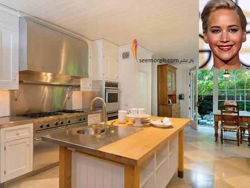 دکوراسیون آشپزخانه جنیفر لارنس Jennifer Lawrence