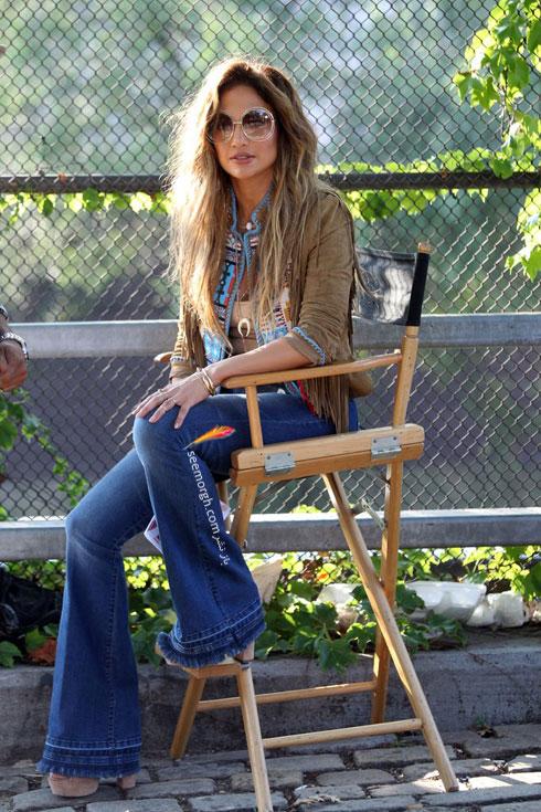 ست کردن شلوار جین به سبک جنیفر لوپز Jennifer Lopez برای پاییز 2016 - ست شماره 3