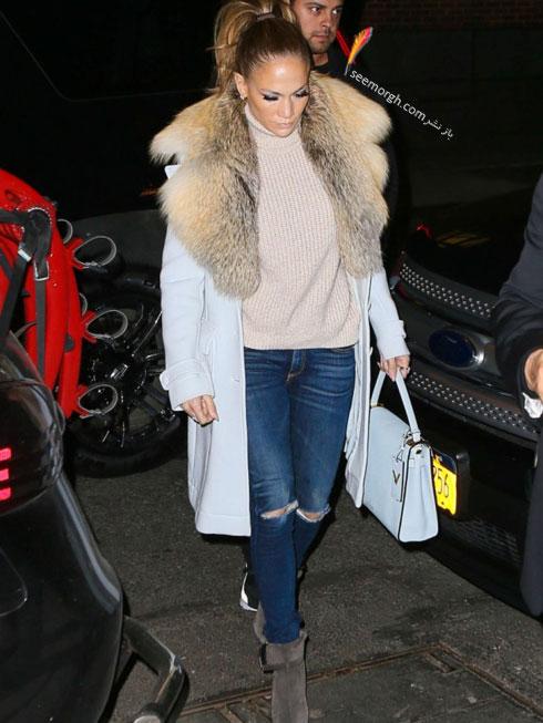 ست کردن شلوار جین به سبک جنیفر لوپز Jennifer Lopez برای پاییز 2016 - ست شماره 4
