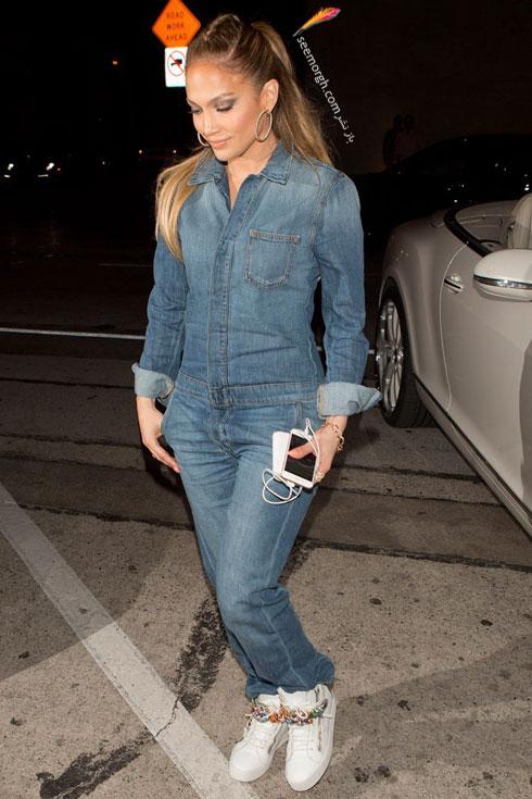 ست کردن شلوار جین به سبک جنیفر لوپز Jennifer Lopez برای پاییز 2016 - ست شماره 5