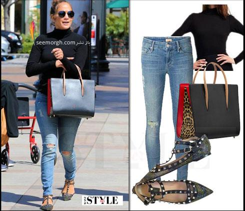 ست کردن شلوار جین به سبک جنیفر لوپز Jennifer Lopez برای پاییز 2016 - ست شماره 6