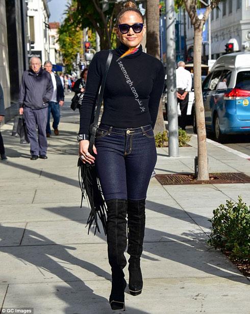 ست کردن شلوار جین به سبک جنیفر لوپز Jennifer Lopez برای پاییز 2016 - ست شماره 8