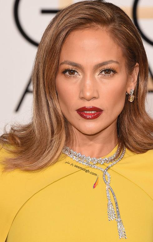 مدل گردنبند جنیفر لوپز Jennifer Lopez در گلدن گلوب Golden Globes 2016