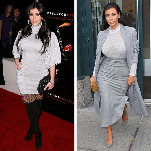 بهترین مدل لباس های کیم کارداشیان Kim Kardashian به انتخاب مجله ال Elle - عکس شماره 1