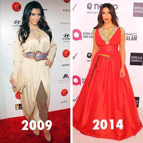 بهترین مدل لباس های کیم کارداشیان Kim Kardashian به انتخاب مجله ال Elle - عکس شماره 2