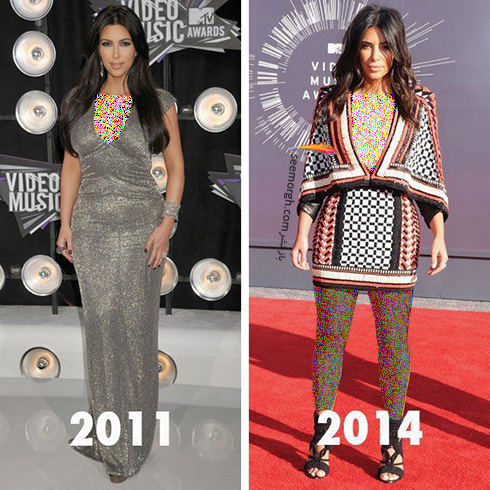 بهترین مدل لباس های کیم کارداشیان Kim Kardashian به انتخاب مجله ال Elle - عکس شماره 3