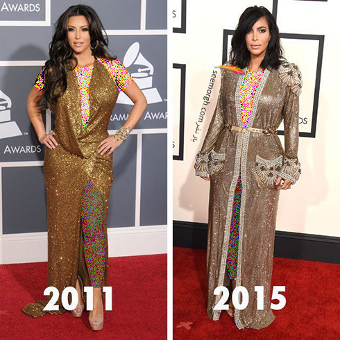 بهترین مدل لباس های کیم کارداشیان Kim Kardashian به انتخاب مجله ال Elle - عکس شماره 4
