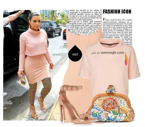 ست کردن لباس میهمانی به سبک کیم کارداشیان Kim Kardashian - عکس شماره 2