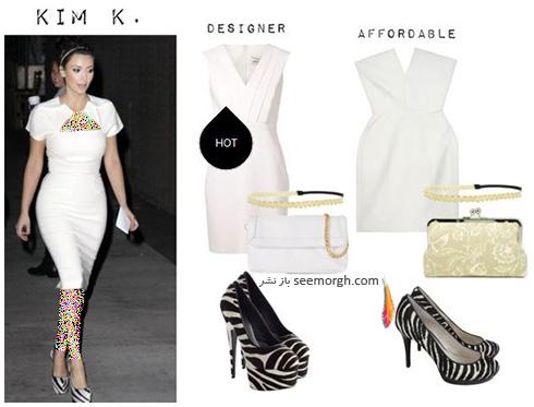 ست کردن لباس میهمانی به سبک کیم کارداشیان Kim Kardashian - عکس شماره 3
