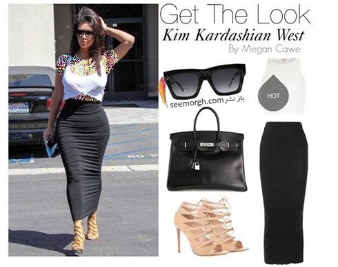 ست کردن لباس میهمانی به سبک کیم کارداشیان Kim Kardashian - عکس شماره 5