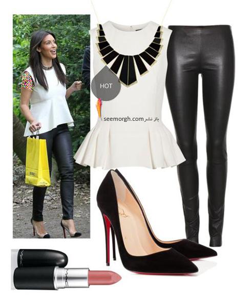 ست کردن لباس میهمانی به سبک کیم کارداشیان Kim Kardashian - عکس شماره 6