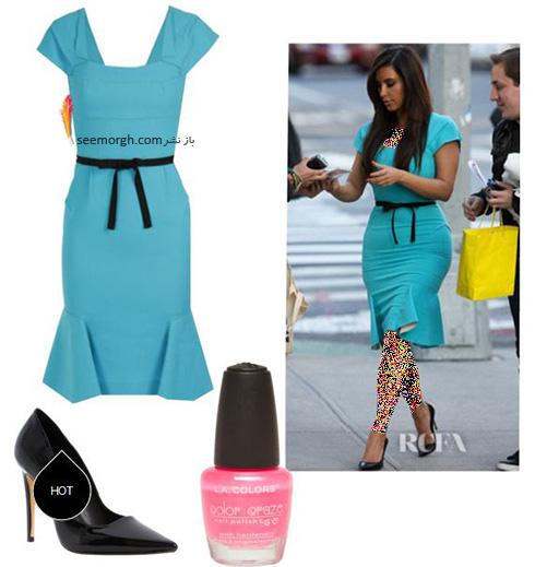 ست کردن لباس میهمانی به سبک کیم کارداشیان Kim Kardashian - عکس شماره 8