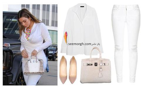 ست کردن لباس میهمانی به سبک کیم کارداشیان Kim Kardashian - عکس شماره 9