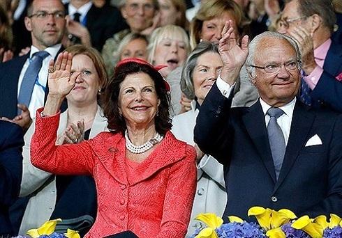 عکس پادشاه و ملکه سوئد