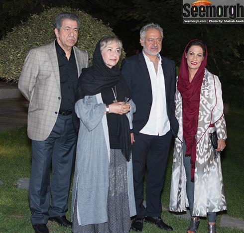 مجید مشیری و همسرش در کنار رخشان بنی اعتماد و جهانگیر کوثری
