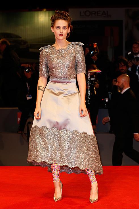 مدل لباس کریستین استوارت Kristen Stewart در جشنواره فیلم ونیز 2016