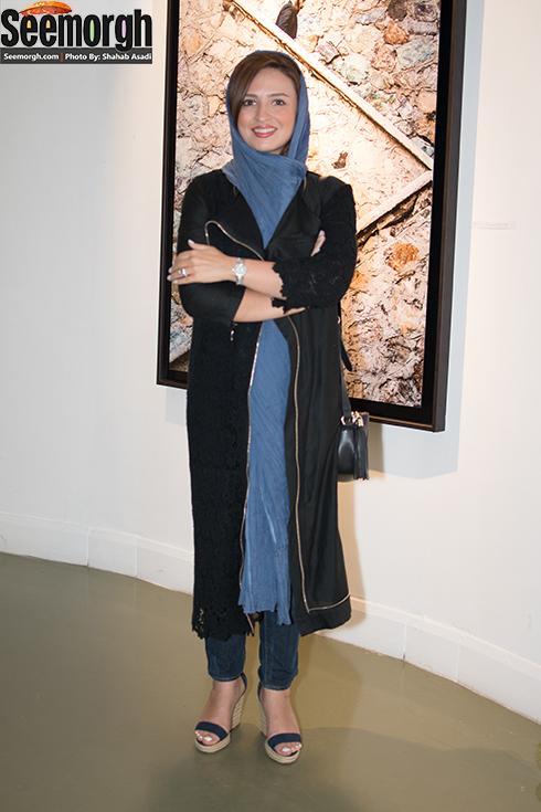 گلاره عباسی در نمایشگاه عکس فیلم لانتوری