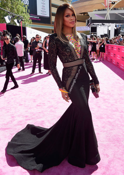 laverne cox copy مدل لباس ستارگان هالیوودی در مراسم جوایز بیلبورد