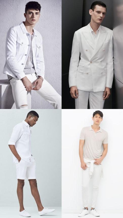 ست کردن لباس با رنگ خنثی : سر تا پا سفید