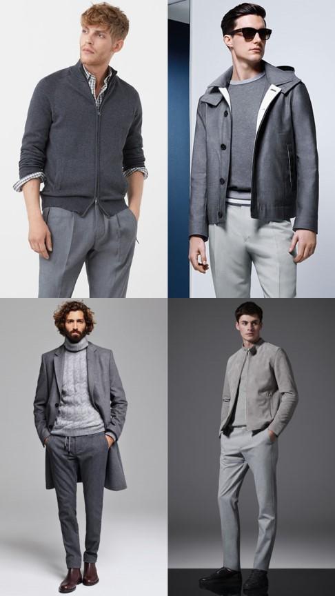 ست کردن لباس با رنگ خنثی : خاکستری روی خاکستری