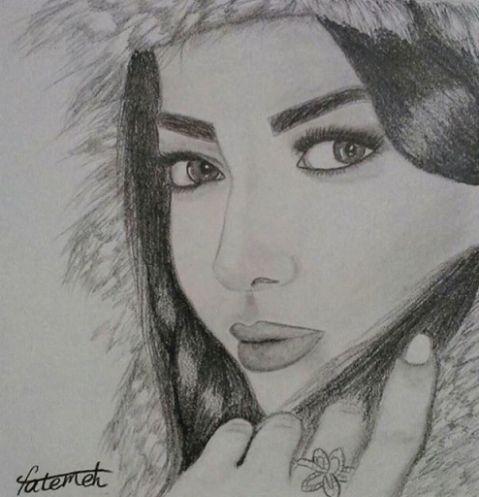 طراحی از چهره لیلا اوتادی