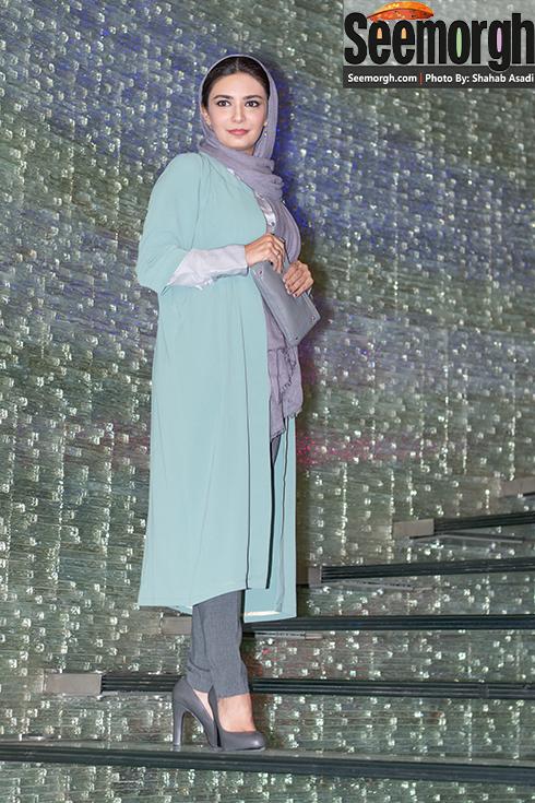 لیندا کیانی در اکران فیلم سیانور در تالار ایوان شمس