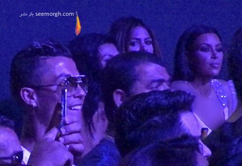 کریس رونالدو و کیم کارداشیان در کنسرت جنیفر لوپز