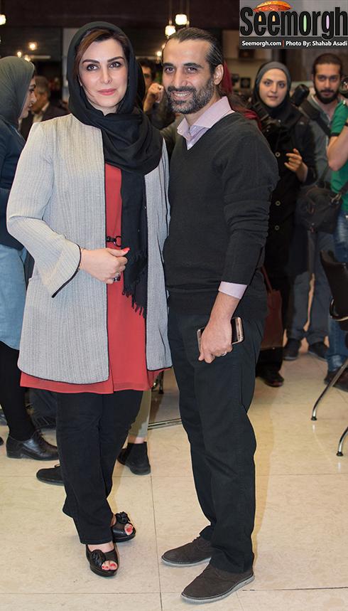 ماه چهره خلیلی و همسرش ابراهیم اشراقی در تالار ایوان شمس