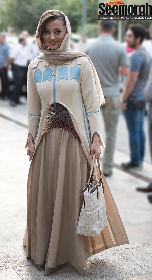 مدل لباس نفیسه روشن در جشن حافظ
