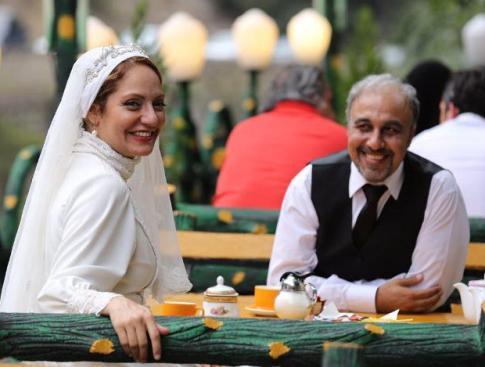 مهناز افشار با لباس عروس در فیلم نهنگ عنبر