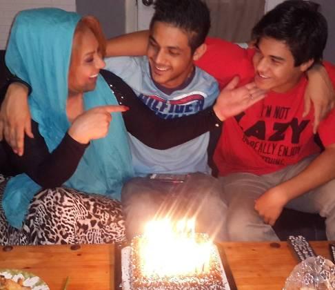 نسرین مقانلو در جشن تولد پسرش در آمریکا