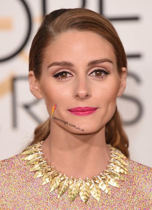 مدل گردنبند اولیویا پالرمو Olivia Palermo در گلدن گلوب Golden Globes 2016