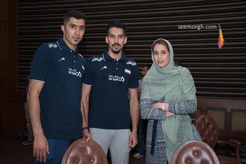 عکس مجتبی میرزاجانپور و همسرش