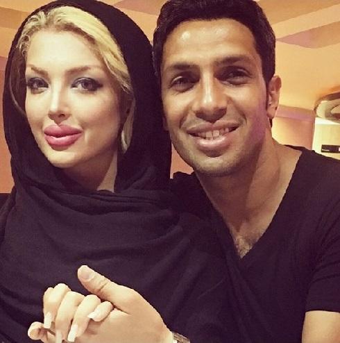 عکس سپهر حیدری و همسرش در عید قربان