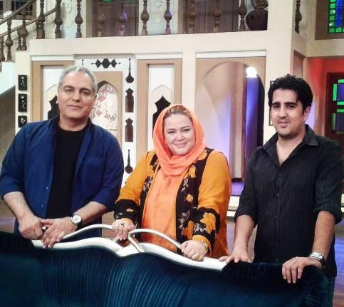 عکس بهاره رهنما در کنار مهران مدیری