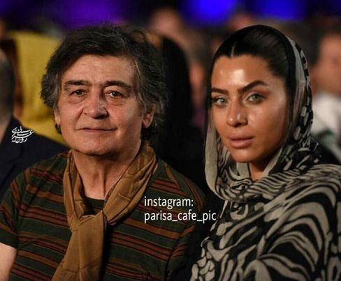 رضا رویگری در کنار همسرش