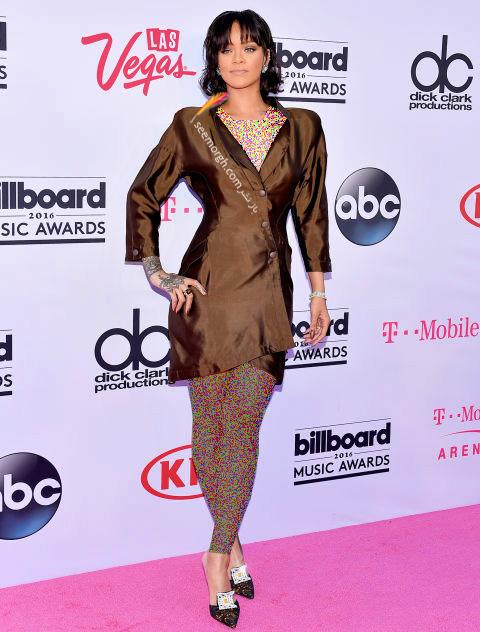 rihanna copy copy مدل لباس ستارگان هالیوودی در مراسم جوایز بیلبورد