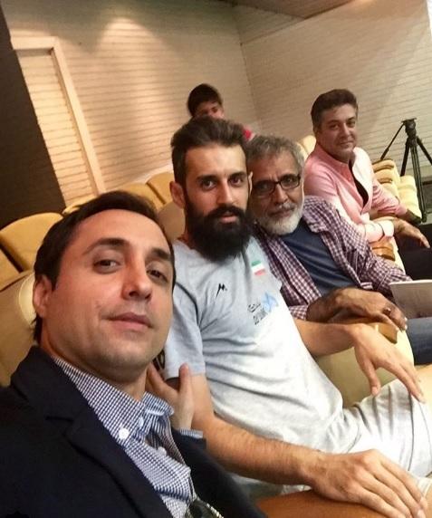 عکس سلفی امیرحسین رستمی و سعید معروف