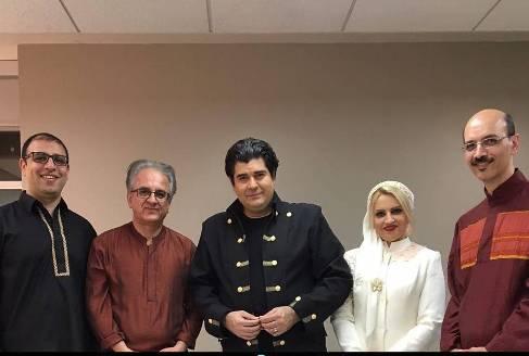 سالار عقیلی و همسرش در آمریکا