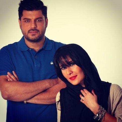 سام درخشانی و همسرش عسل امیرپور