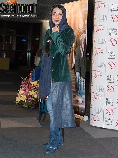مدل مانتو سمیرا حسن پور در اکران متولد 65