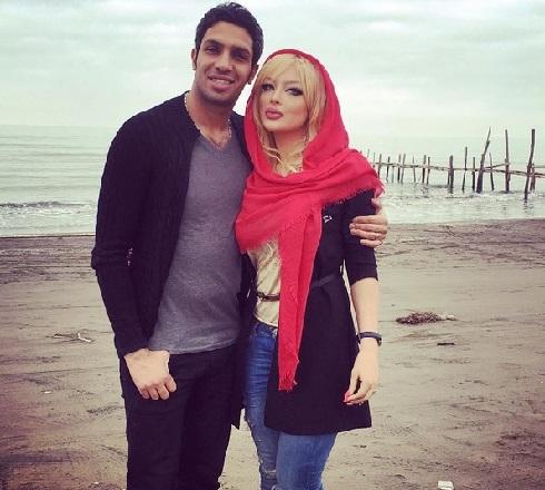 عکس سپهر حیدری و همسرش در شمال