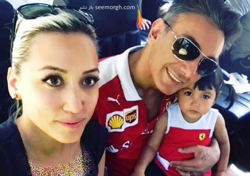 شادمهر عقیلی در کنار زن و دخترش